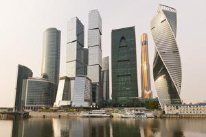 Moscow City skyscrapers, Moscow, Russia, Europe by Miles Ertman