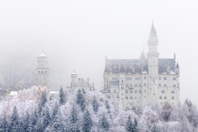 Neuschwanstein Castle in Winter, Fussen, Bavaria, Germany, Europe