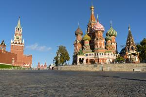 Red Square, St. Basil's Cathedral and the Saviour's Tower of the Kremlin, UNESCO World Heritage Sit by Miles Ertman