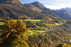 View of Berchtesgaden, Bavaria, Germany, Europe by Miles Ertman
