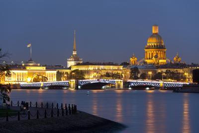 View of the Historic Heart along the Neva River, St. Petersburg, Russia, Europe by Miles Ertman