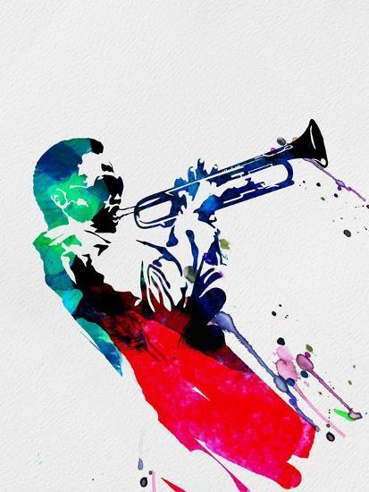 Miles Watercolor-Lora Feldman-Art Print