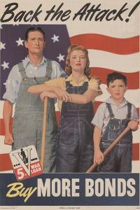 Military and War Posters: Back the Attack! Buy More Bonds! U.S. Government Printing Office, 1944