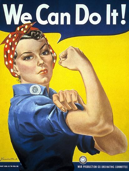 Military and War Posters: We Can Do It! J Howard Miller, 1942--Premium Giclee Print