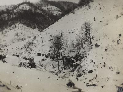 Military Barracks in the Valley Doblar During the First World War-Luigi Verdi-Photographic Print