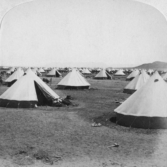 Military Camp at De Aar, South Africa, Boer War, 1900-Underwood & Underwood-Giclee Print