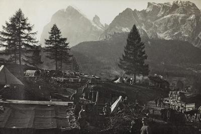 Military Camp at the Slopes of Mount Antelio--Photographic Print