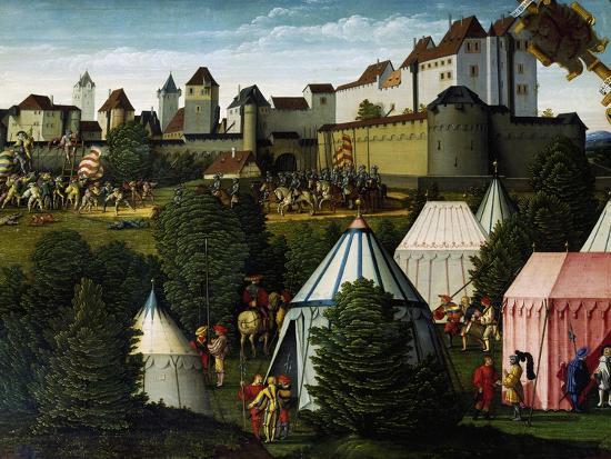 Military Camp, Detail from Story of David, 1534-Hans Sebald Beham-Giclee Print