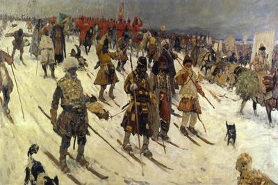 Military Campaign of the Russians in the 16th Century, 1903-Sergei Ivanov-Giclee Print