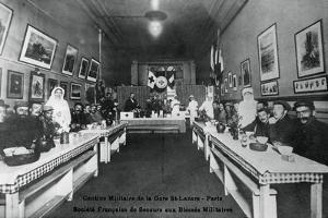 Military Canteen, Gare St Lazare, Paris, World War I, 1914-1918