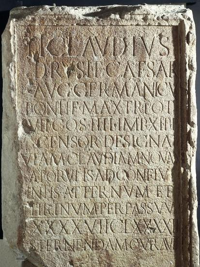 Military Cippus with Inscriptions, from Via Claudia Nova--Giclee Print