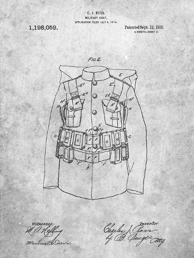 Military Coat Patent-Cole Borders-Art Print