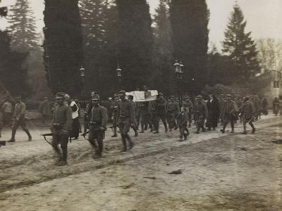 Military Funeral in Soleschiano During the First World War-Luigi Verdi-Photographic Print