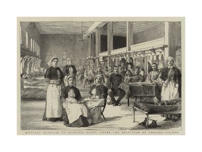 Military Hospital at Abassieh, Egypt, under the Direction of English Sisters--Giclee Print
