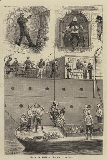 Military Life on Board a Troopship-William Ralston-Giclee Print