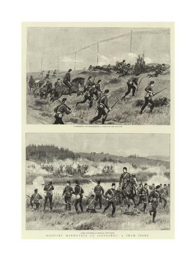 Military Manoeuvres at Aldershot, a Sham Fight--Giclee Print