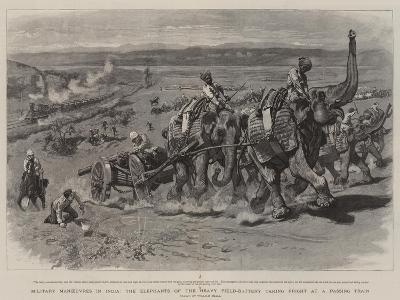 Military Manoeuvres in India-William Small-Giclee Print