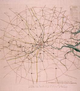 Military Map of a Thirty Six Mile Area around London, C1804