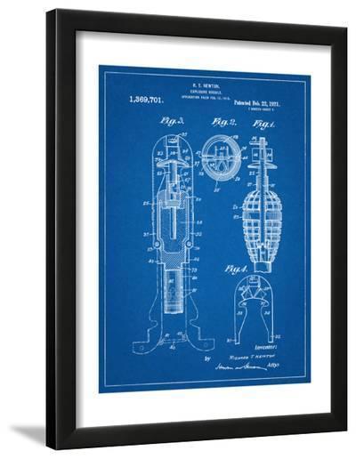 Military Missile Patent--Framed Art Print