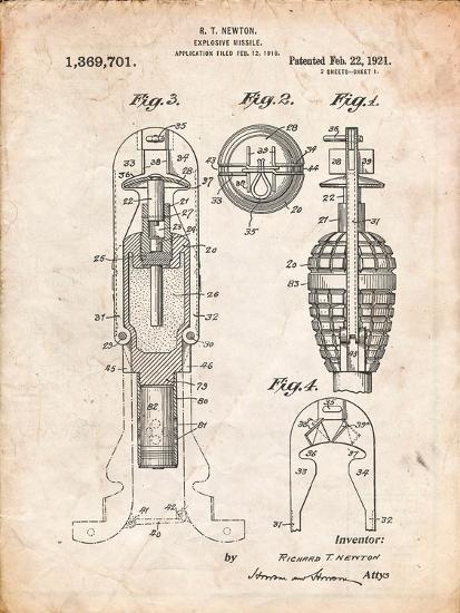 Military Missile Patent-Cole Borders-Art Print