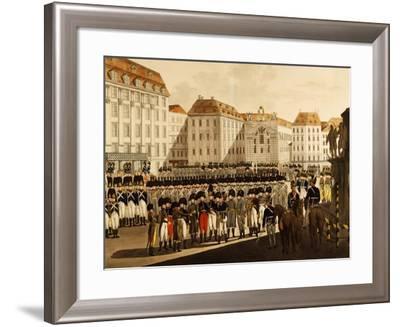 Military Parade of Viennese Burgermilitars in Platz Am Hof, Vienna, January 1806, Austria--Framed Giclee Print