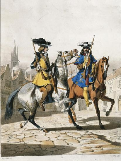 Military Police Uniforms, Military Police Command Guard Corps--Giclee Print