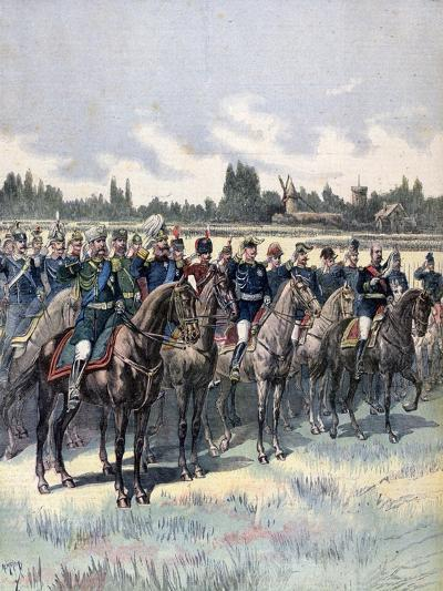 Military Review with General Saussier and Foreign Military Attaches, 14th July 1891-Henri Meyer-Giclee Print