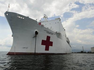 Military Sealift Command Hospital Ship Usns Comfort at Port-Stocktrek Images-Photographic Print