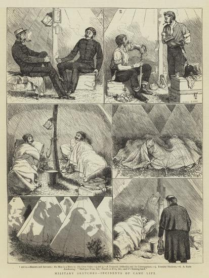 Military Sketches, Incidents of Camp Life-Alfred Chantrey Corbould-Giclee Print