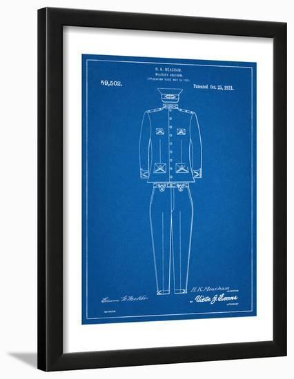 Military Uniform Patent--Framed Art Print