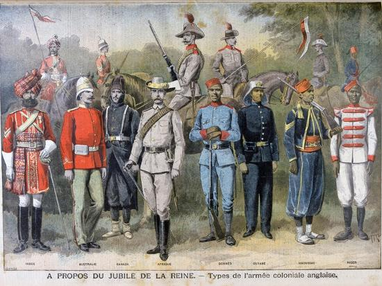 Military Uniforms of the British Colonial Army, 1897-Henri Meyer-Giclee Print