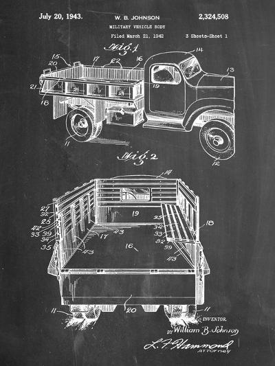 Military Vehicle Truck Patent--Art Print