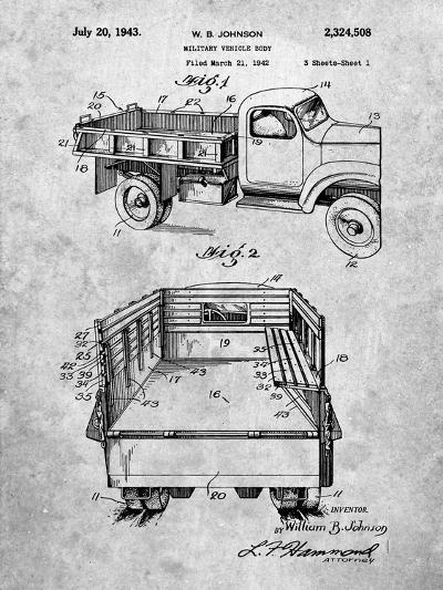 Military Vehicle Truck Patent-Cole Borders-Art Print