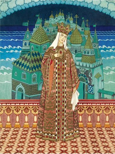 Militrissa. Costume Design for the Opera the Tale of Tsar Saltan by N. Rimsky-Korsakov-Ivan Yakovlevich Bilibin-Giclee Print