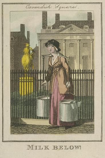 Milk Below!, Cries of London, 1804-William Marshall Craig-Giclee Print