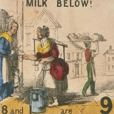 Milk Below!, Cries of London, C1840-TH Jones-Giclee Print