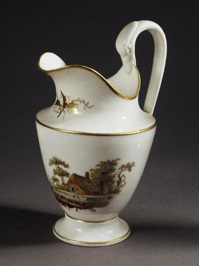 Milk Jug with Handle in Shape of Swan's Head, White Porcelain, 1805--Giclee Print