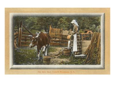 Milk Maid, Catskills, New York--Art Print