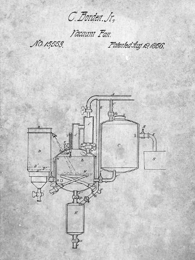 Milk Pasteurization Patent 1856-Cole Borders-Art Print