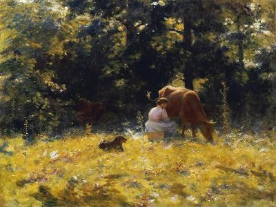 Milking Time-Charles Courtney Curran-Giclee Print