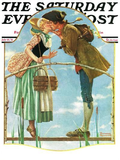 """""""Milkmaid"""" Saturday Evening Post Cover, July 25,1931-Norman Rockwell-Giclee Print"""