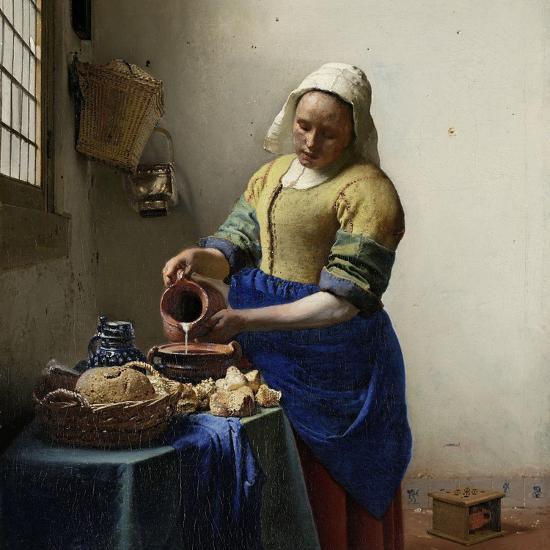 Milkmaid-Johannes Vermeer-Art Print