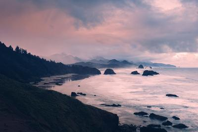 Milky and Stormy Morning at Cannon Beach, Oregon Coast-Vincent James-Photographic Print