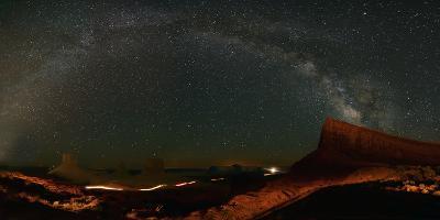 Milky Way Above Monument Valley-Raul Touzon-Photographic Print