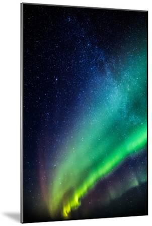 Milky Way and Aurora Borealis, Iceland-Arctic-Images-Mounted Photographic Print