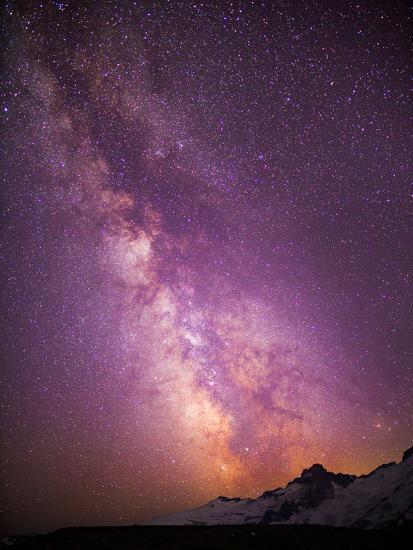 Milky Way (Constellation Sagittarius), Mt Rainier NP, Washington, USA-Gary Luhm-Photographic Print