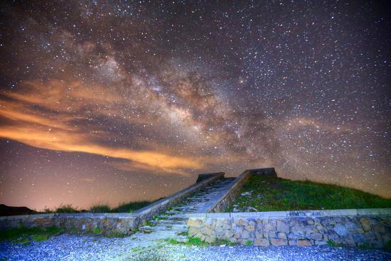 Milky Way Galaxy-chenning.sung @ Taiwan-Photographic Print