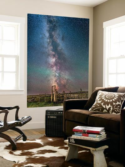 Milky Way over an Old Ranch Corral-Stocktrek Images-Wall Mural