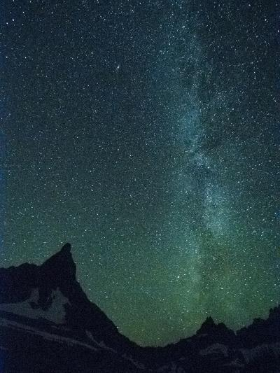 Milky Way over Glacier National Park, Montana.-Steven Gnam-Photographic Print