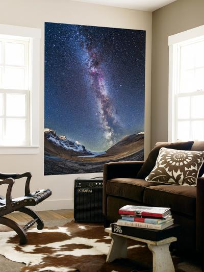 Milky Way over the Columbia Icefields in Jasper National Park, Canada-Stocktrek Images-Wall Mural